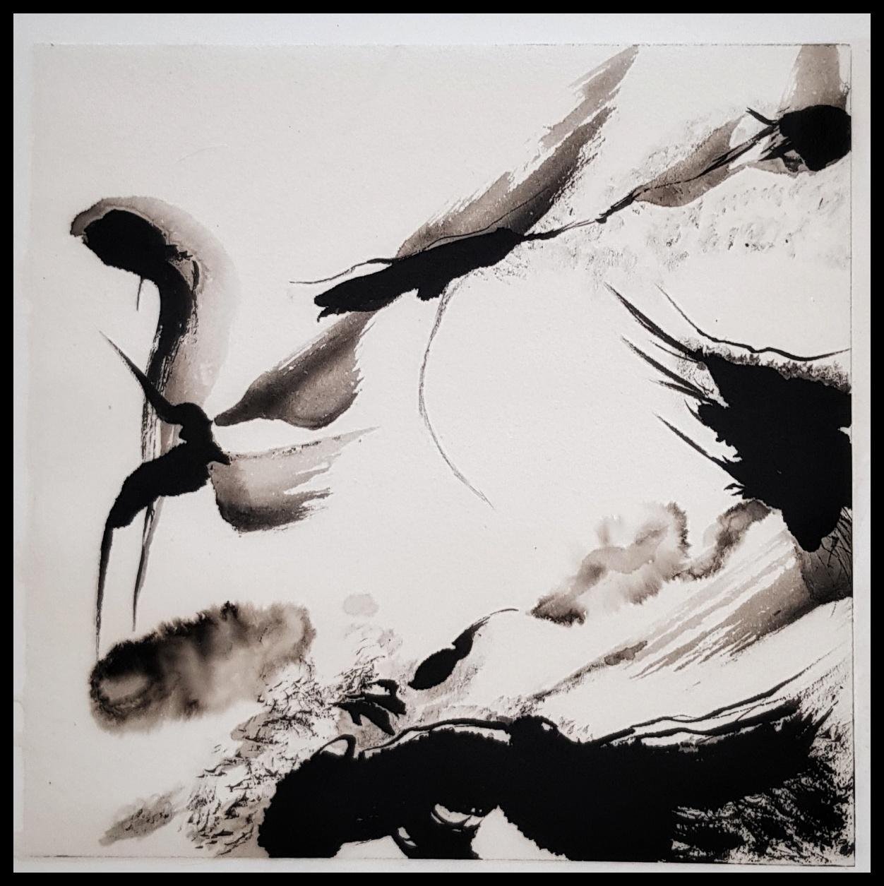philippe lavaine artiste peintre encre chine papier fait main quimper